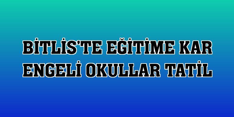 Bitlis'te eğitime kar engeli okullar tatil