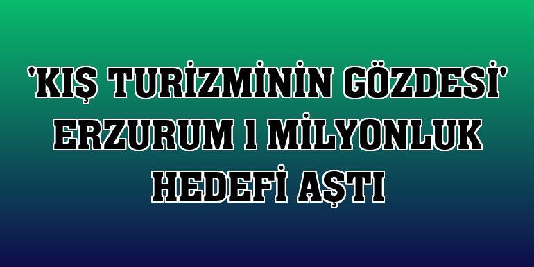 'Kış turizminin gözdesi' Erzurum 1 milyonluk hedefi aştı