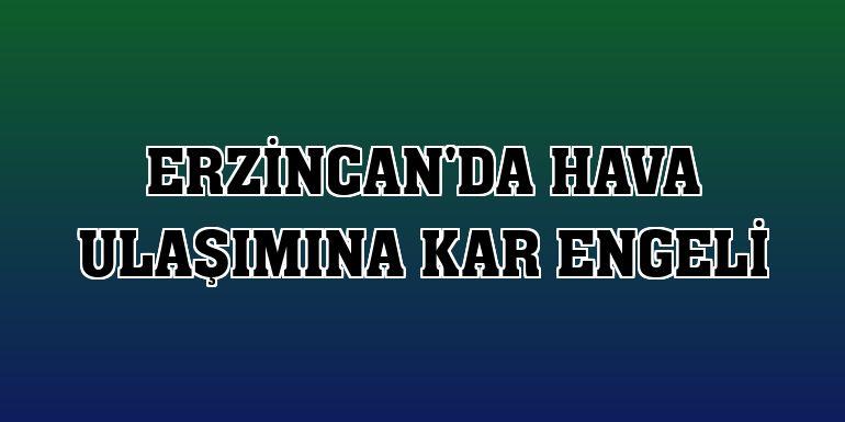 Erzincan'da hava ulaşımına kar engeli