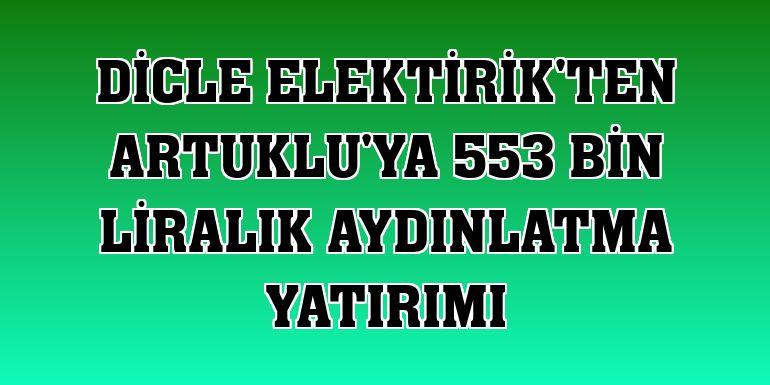 Dicle Elektirik'ten Artuklu'ya 553 bin liralık aydınlatma yatırımı