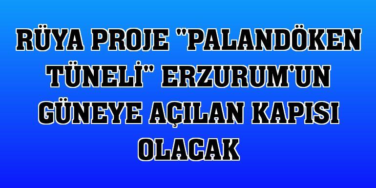 """Rüya proje """"Palandöken Tüneli"""" Erzurum'un güneye açılan kapısı olacak"""