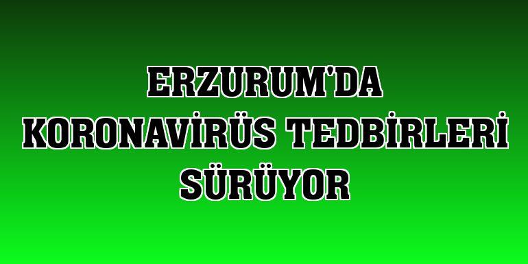 Erzurum'da koronavirüs tedbirleri sürüyor