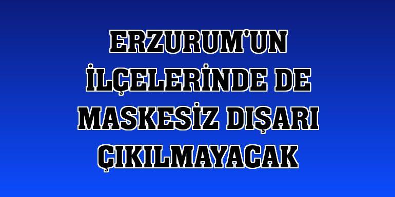 Erzurum'un ilçelerinde de maskesiz dışarı çıkılmayacak