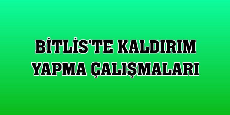 Bitlis'te kaldırım yapma çalışmaları