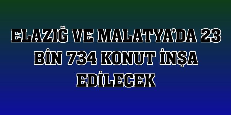 Elazığ ve Malatya'da 23 bin 734 konut inşa edilecek