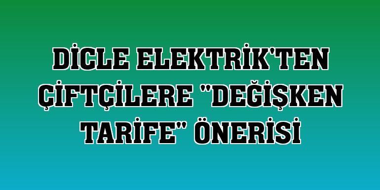 """Dicle Elektrik'ten çiftçilere """"değişken tarife"""" önerisi"""