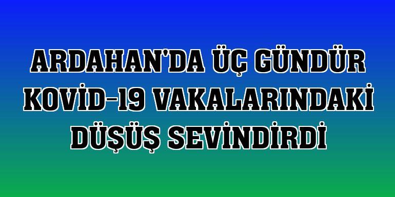 Ardahan'da üç gündür Kovid-19 vakalarındaki düşüş sevindirdi