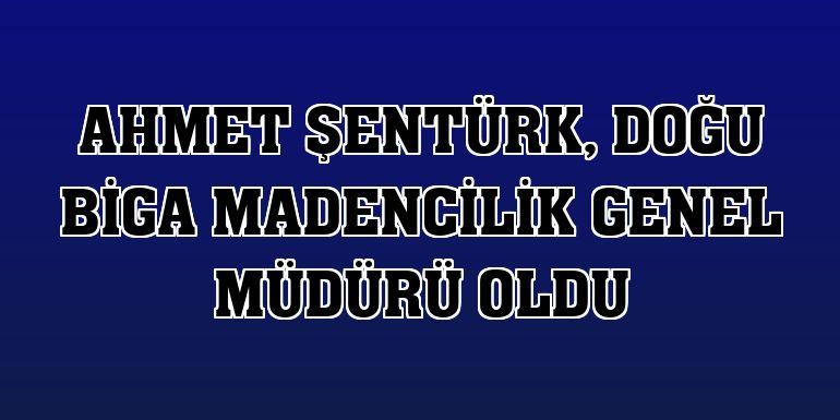 Ahmet Şentürk, Doğu Biga Madencilik Genel Müdürü oldu