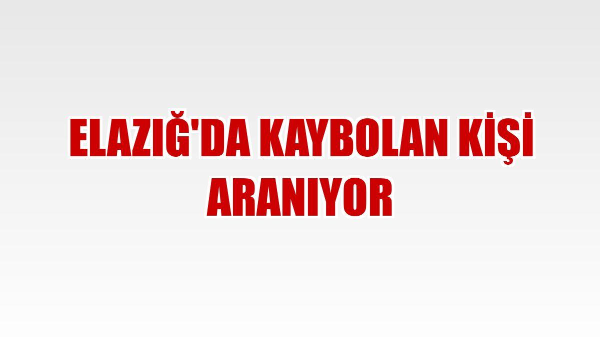 Elazığ'da kaybolan kişi aranıyor