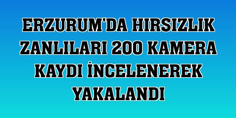 Erzurum'da hırsızlık zanlıları 200 kamera kaydı incelenerek yakalandı