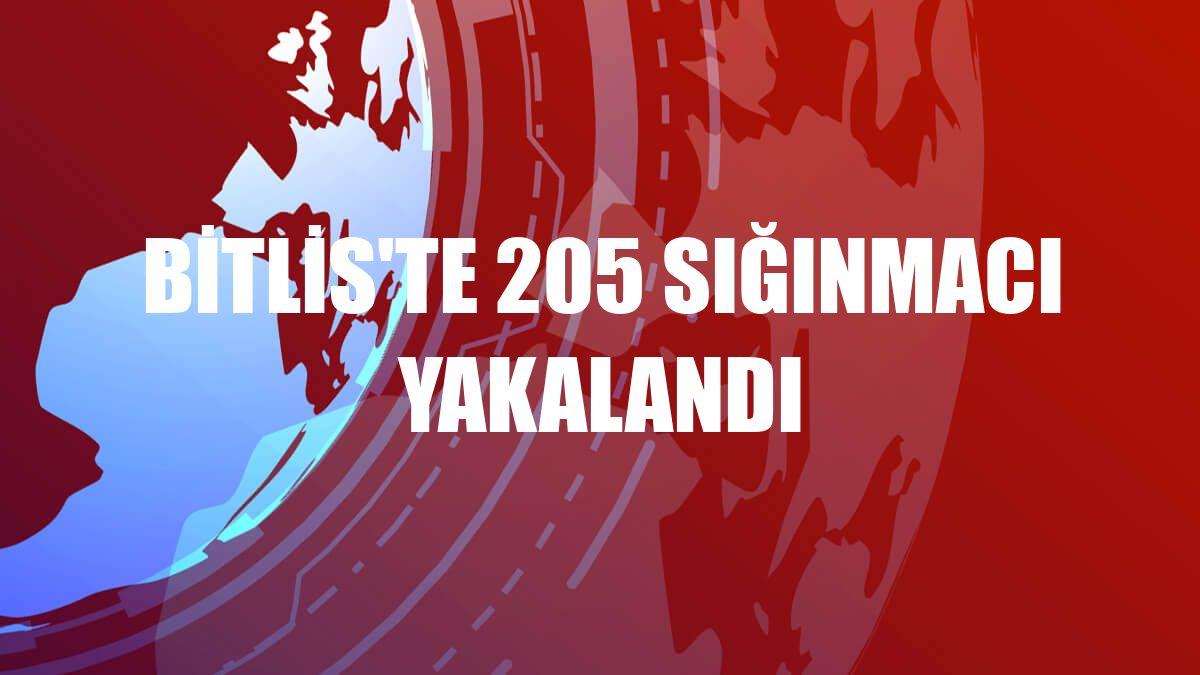 Bitlis'te 205 sığınmacı yakalandı
