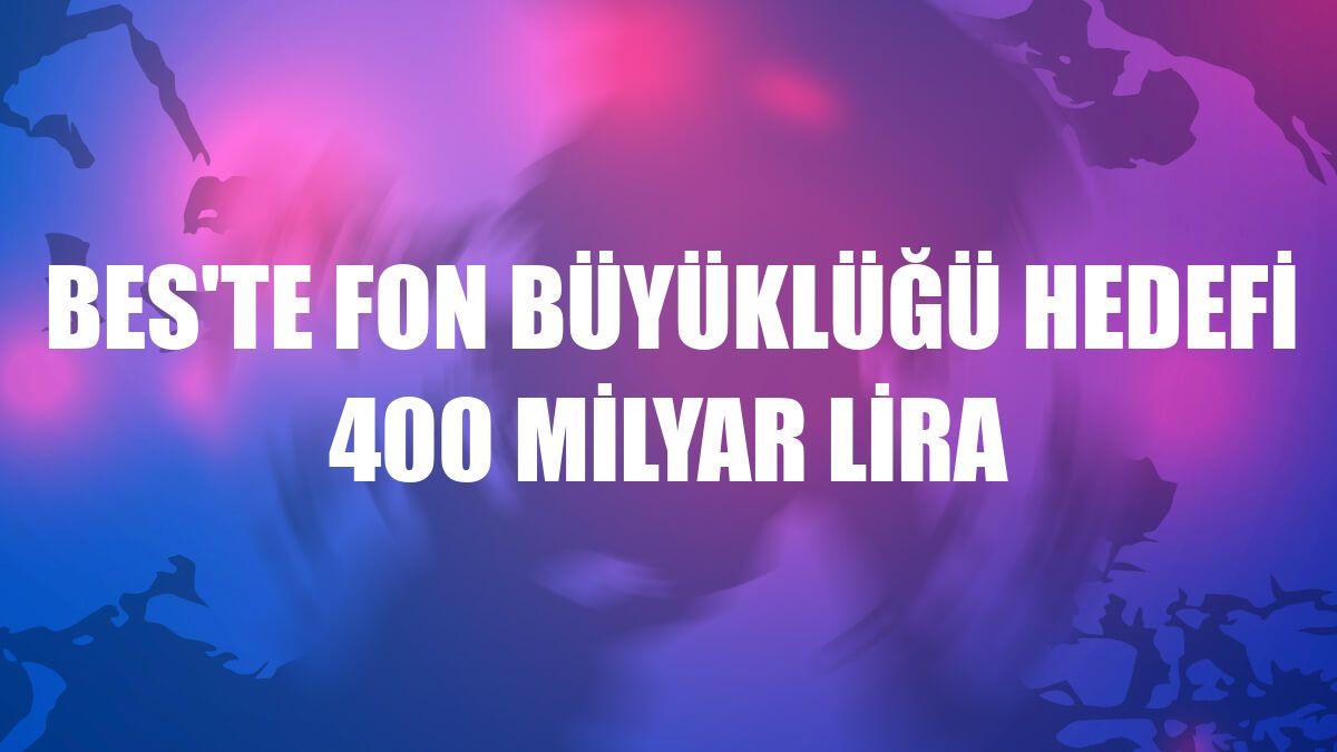 BES'te fon büyüklüğü hedefi 400 milyar lira