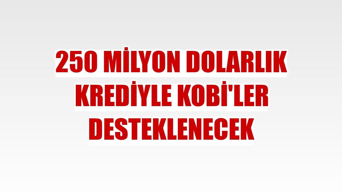 250 milyon dolarlık krediyle KOBİ'ler desteklenecek
