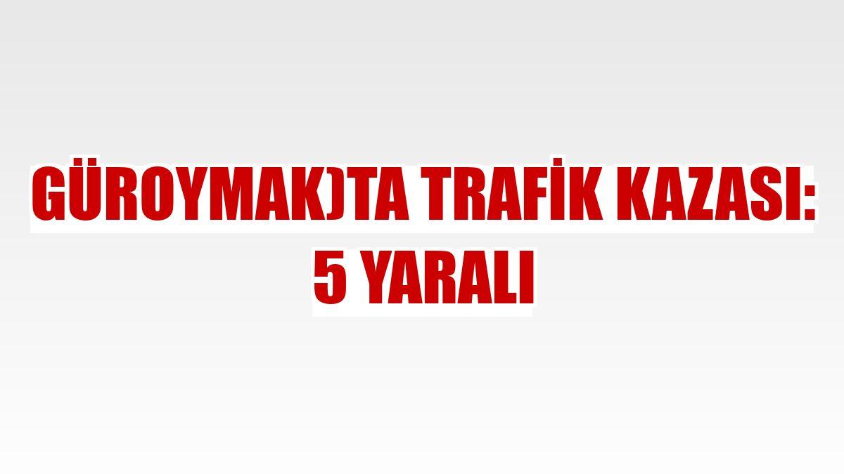 Güroymak)ta trafik kazası: 5 yaralı