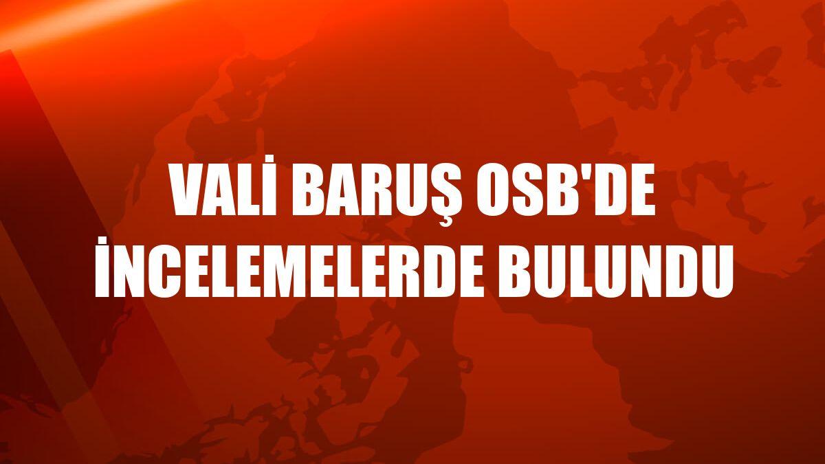Vali Baruş OSB'de incelemelerde bulundu