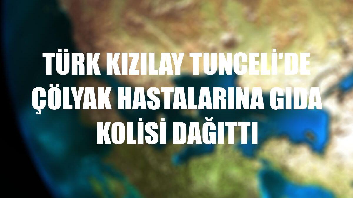 Türk Kızılay Tunceli'de çölyak hastalarına gıda kolisi dağıttı