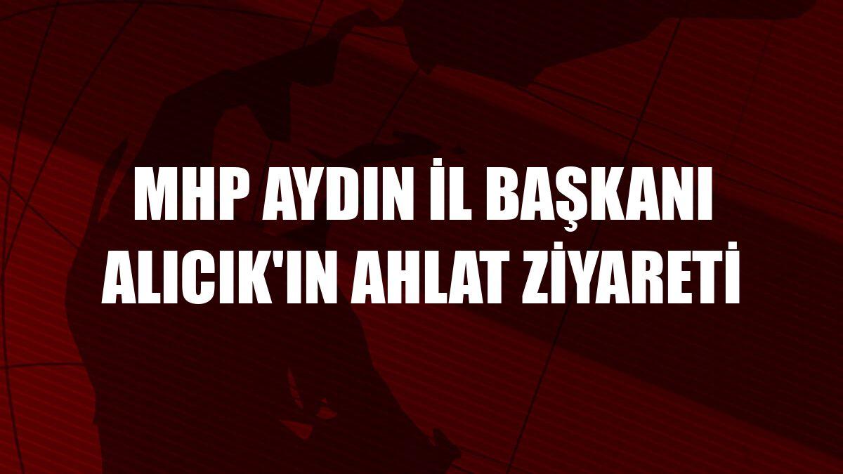 MHP Aydın İl Başkanı Alıcık'ın Ahlat ziyareti