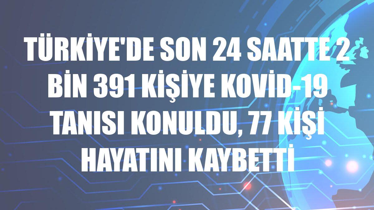 Türkiye'de son 24 saatte 2 bin 391 kişiye Kovid-19 tanısı konuldu, 77 kişi hayatını kaybetti