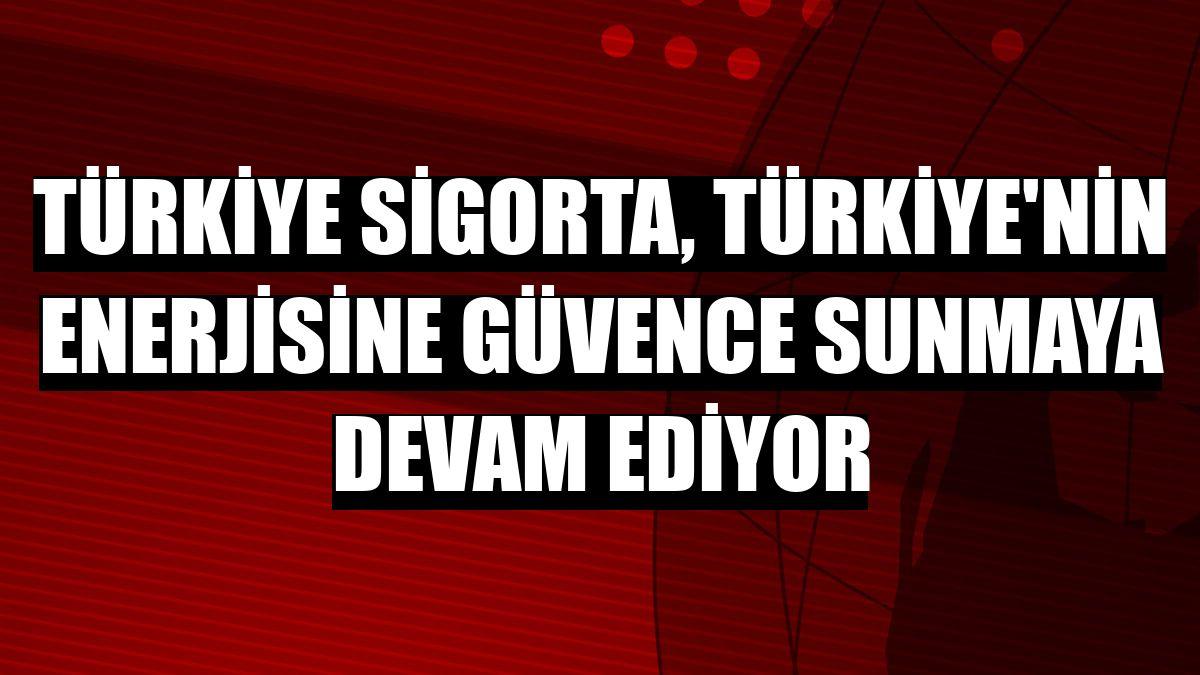 Türkiye Sigorta, Türkiye'nin enerjisine güvence sunmaya devam ediyor