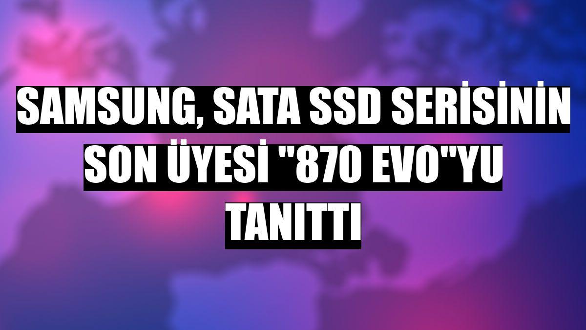 "Samsung, SATA SSD serisinin son üyesi ""870 EVO""yu tanıttı"