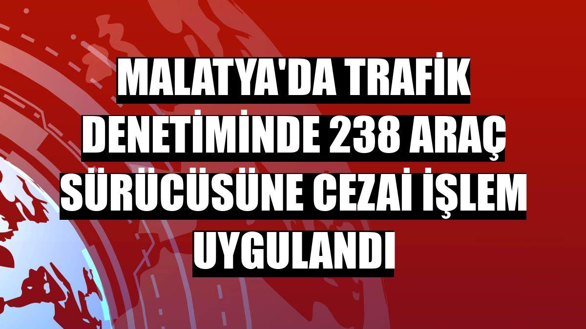 Malatya'da trafik denetiminde 238 araç sürücüsüne cezai işlem uygulandı