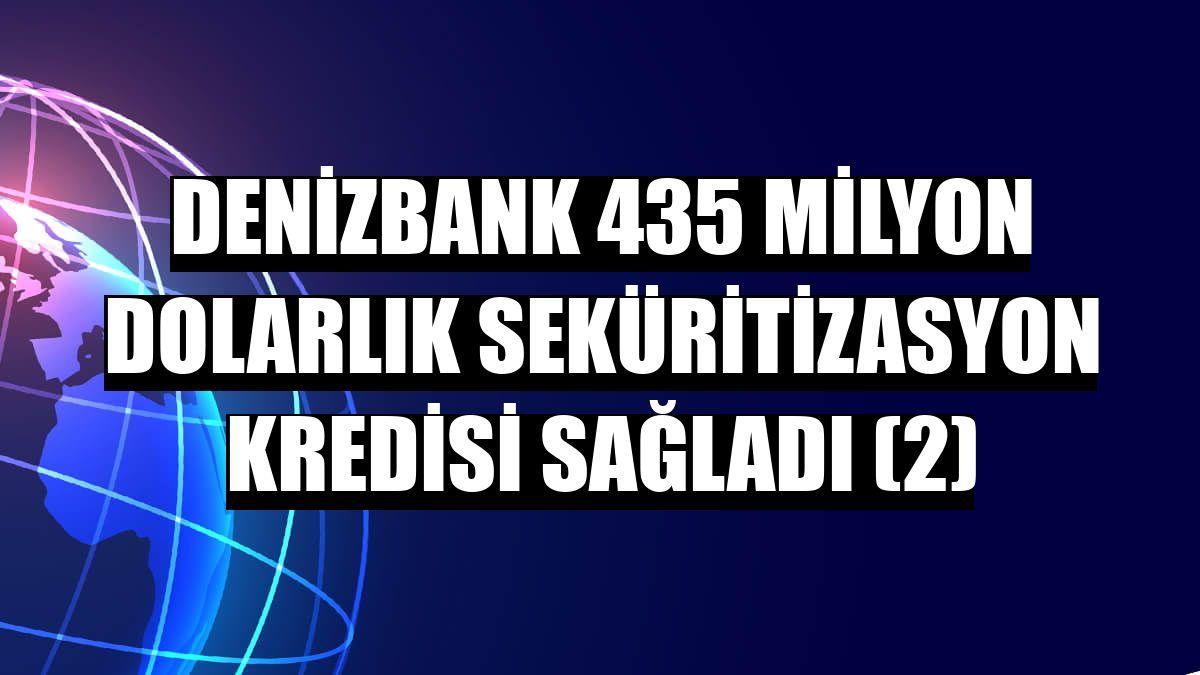 DenizBank 435 milyon dolarlık seküritizasyon kredisi sağladı (2)