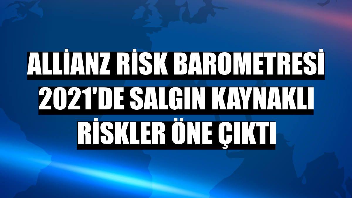 Allianz Risk Barometresi 2021'de salgın kaynaklı riskler öne çıktı