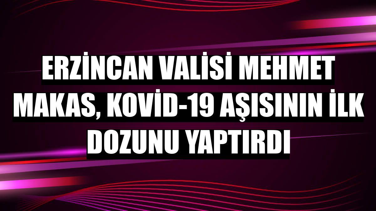 Erzincan Valisi Mehmet Makas, Kovid-19 aşısının ilk dozunu yaptırdı