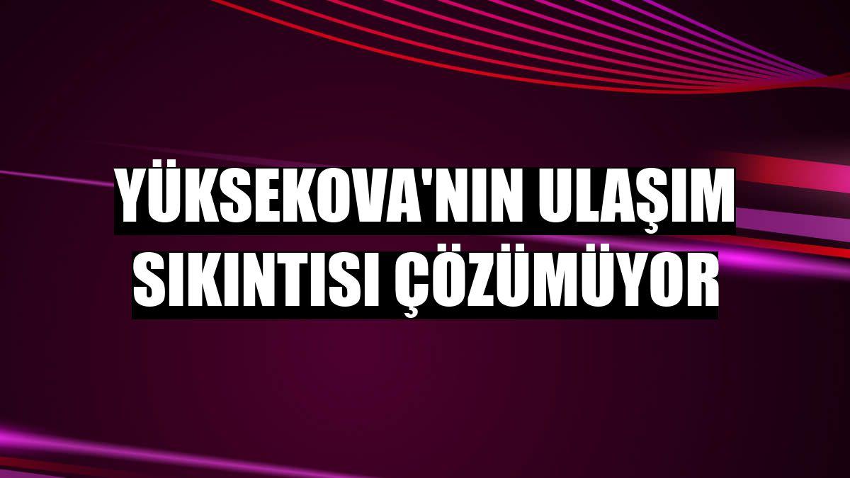 Yüksekova'nın ulaşım sıkıntısı çözümüyor