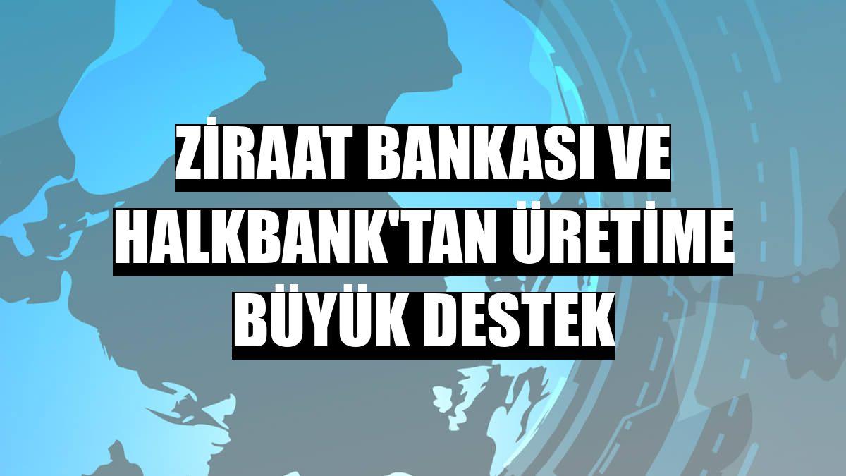 Ziraat Bankası ve Halkbank'tan üretime büyük destek