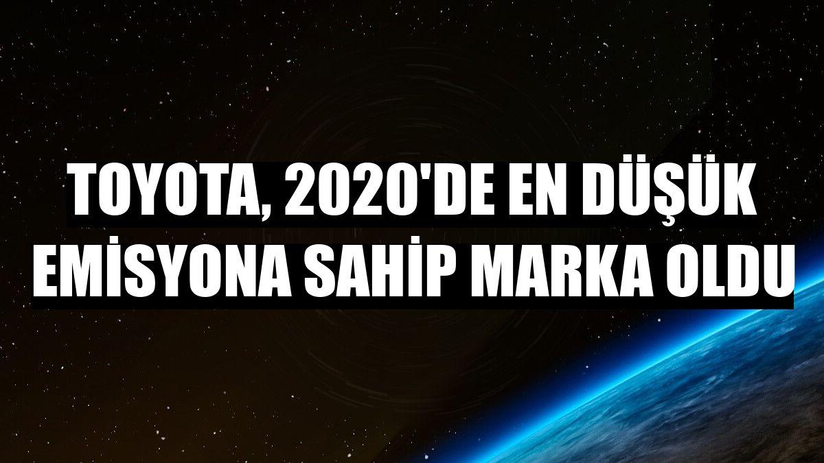 Toyota, 2020'de en düşük emisyona sahip marka oldu