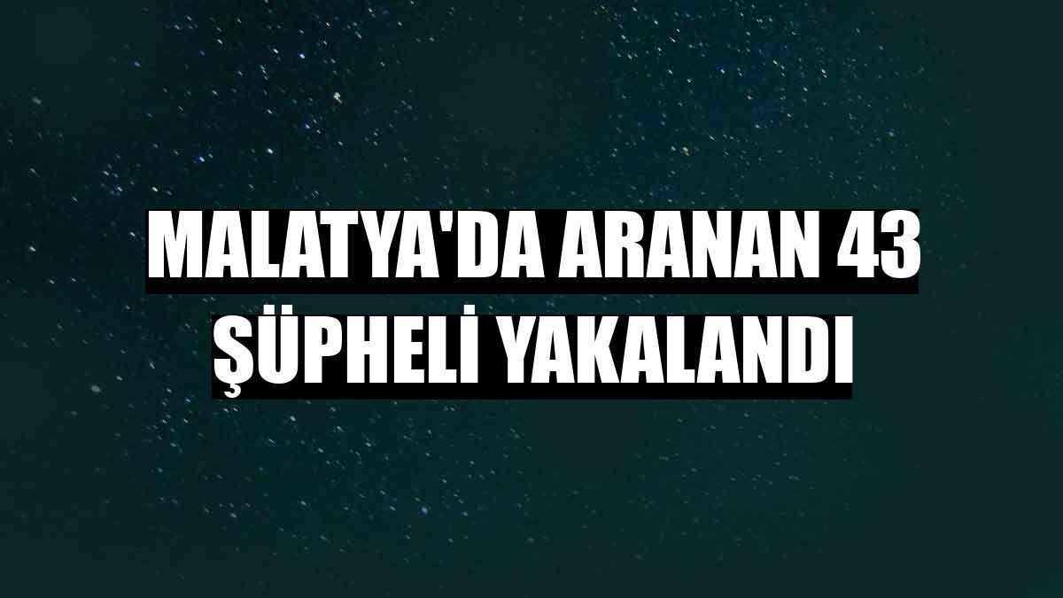 Malatya'da aranan 43 şüpheli yakalandı