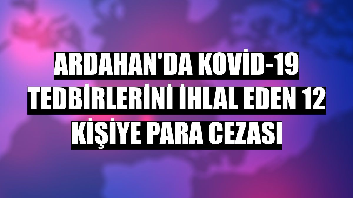 Ardahan'da Kovid-19 tedbirlerini ihlal eden 12 kişiye para cezası