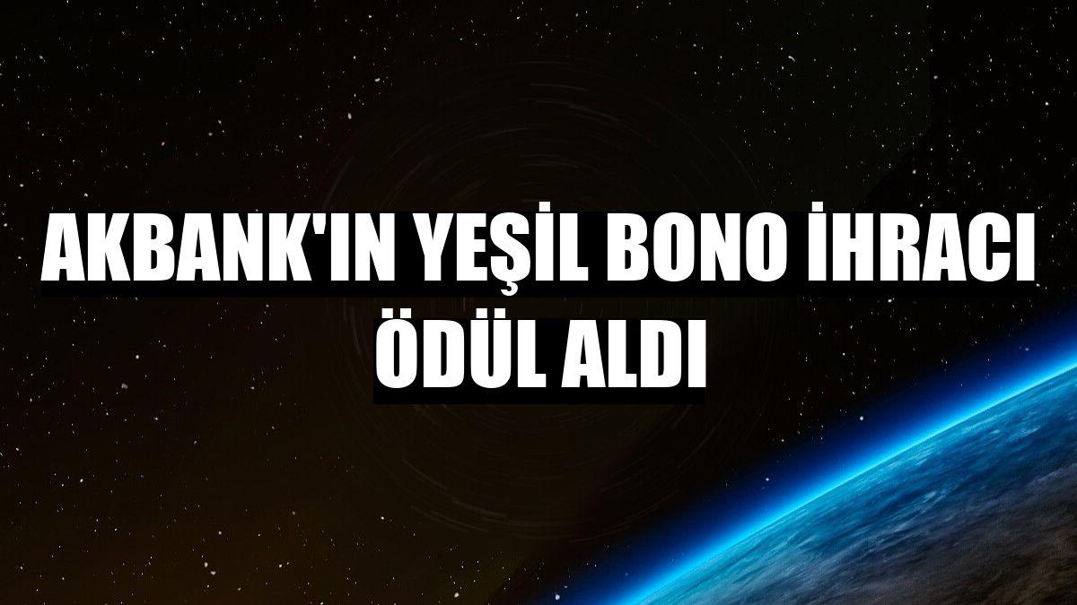 Akbank'ın yeşil bono ihracı ödül aldı