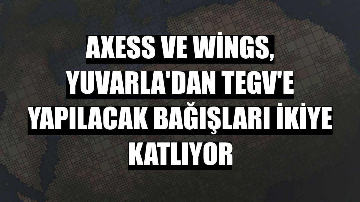 Axess ve Wings, Yuvarla'dan TEGV'e yapılacak bağışları ikiye katlıyor