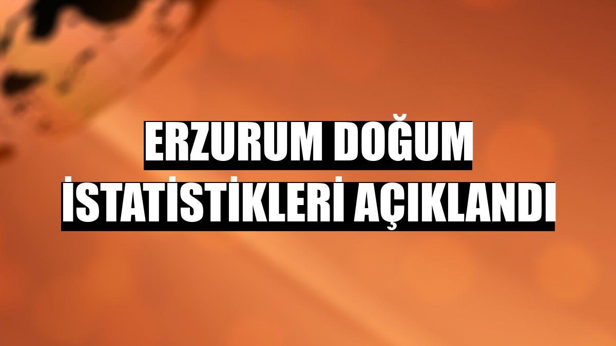 Erzurum Doğum istatistikleri açıklandı