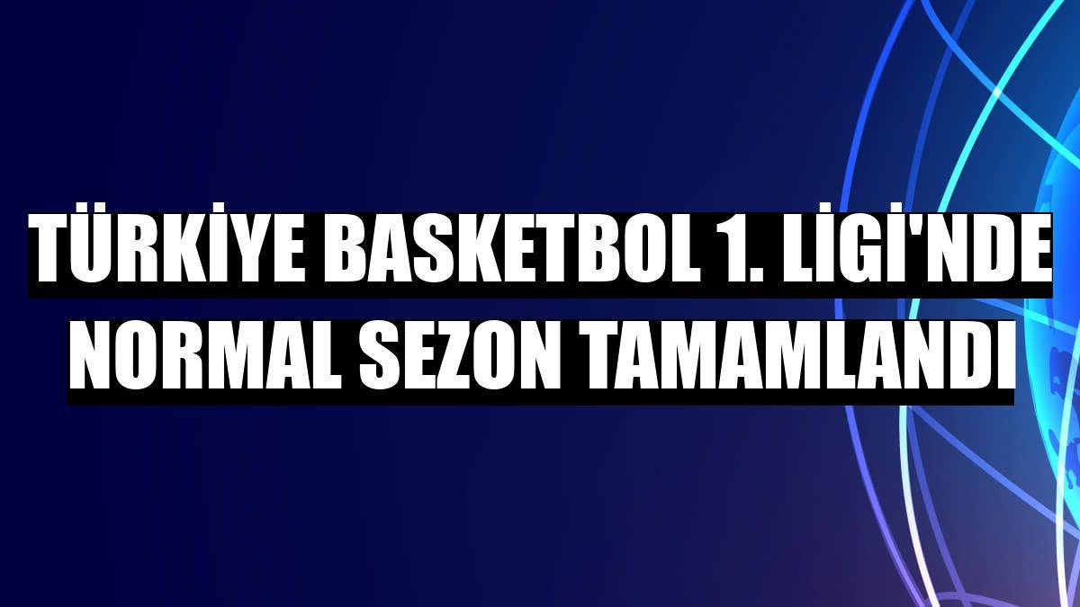 Türkiye Basketbol 1. Ligi'nde normal sezon tamamlandı