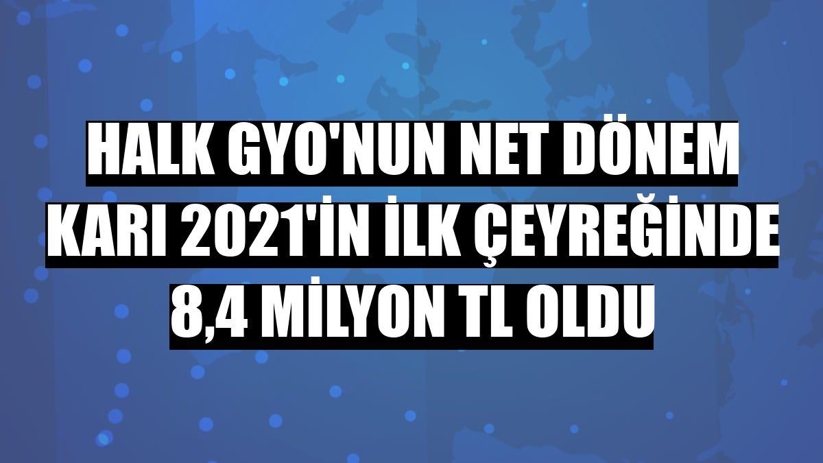 Halk GYO'nun net dönem karı 2021'in ilk çeyreğinde 8,4 milyon TL oldu