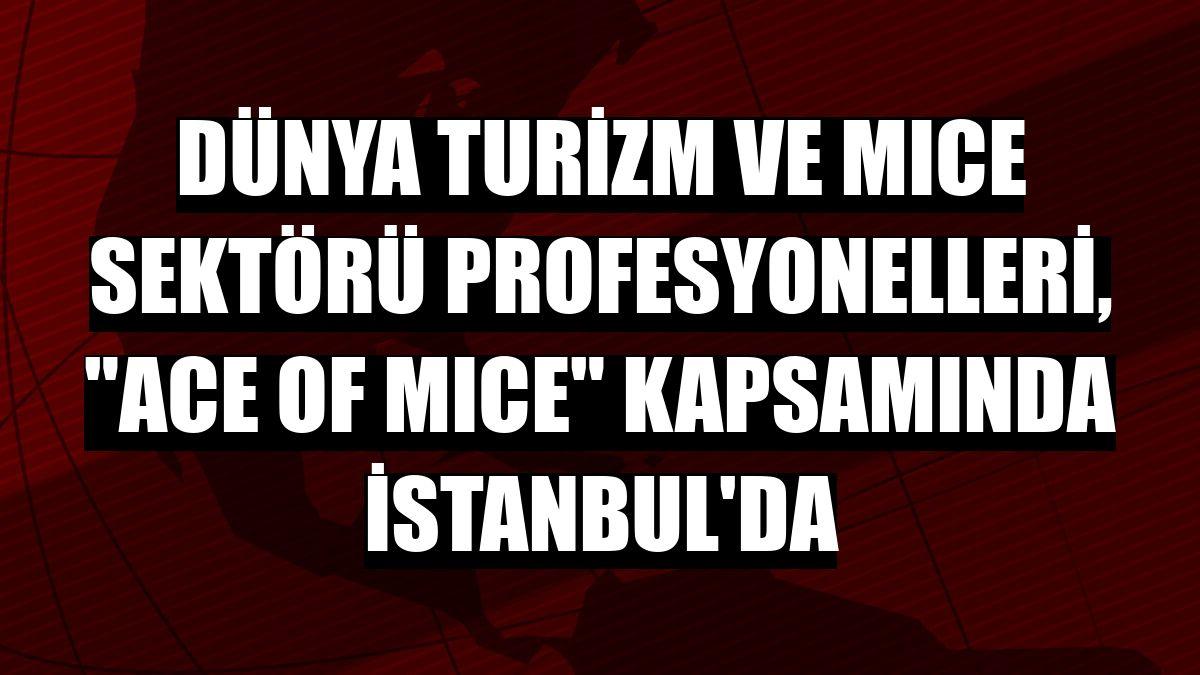 """Dünya turizm ve MICE sektörü profesyonelleri, """"ACE of MICE"""" kapsamında İstanbul'da"""