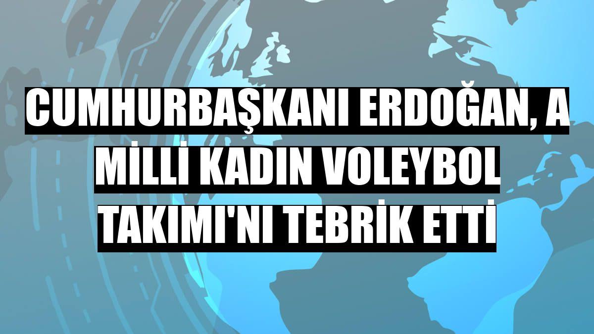 Cumhurbaşkanı Erdoğan, A Milli Kadın Voleybol Takımı'nı tebrik etti