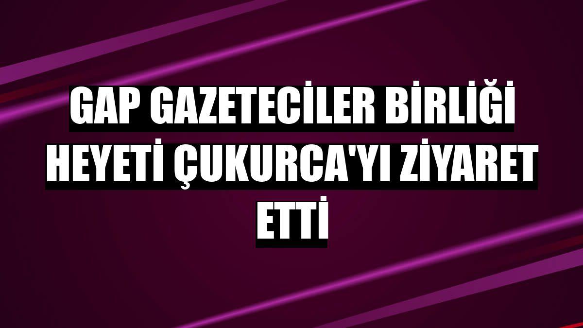 GAP Gazeteciler Birliği heyeti Çukurca'yı ziyaret etti