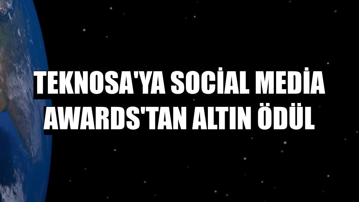 Teknosa'ya Social Media Awards'tan altın ödül