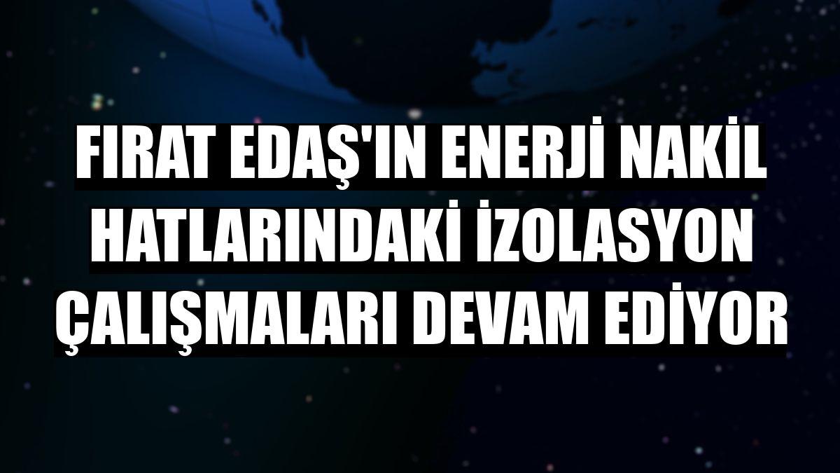 Fırat EDAŞ'ın enerji nakil hatlarındaki izolasyon çalışmaları devam ediyor