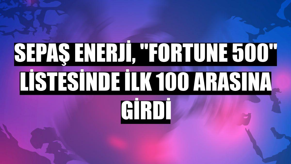 """Sepaş Enerji, """"Fortune 500"""" listesinde ilk 100 arasına girdi"""