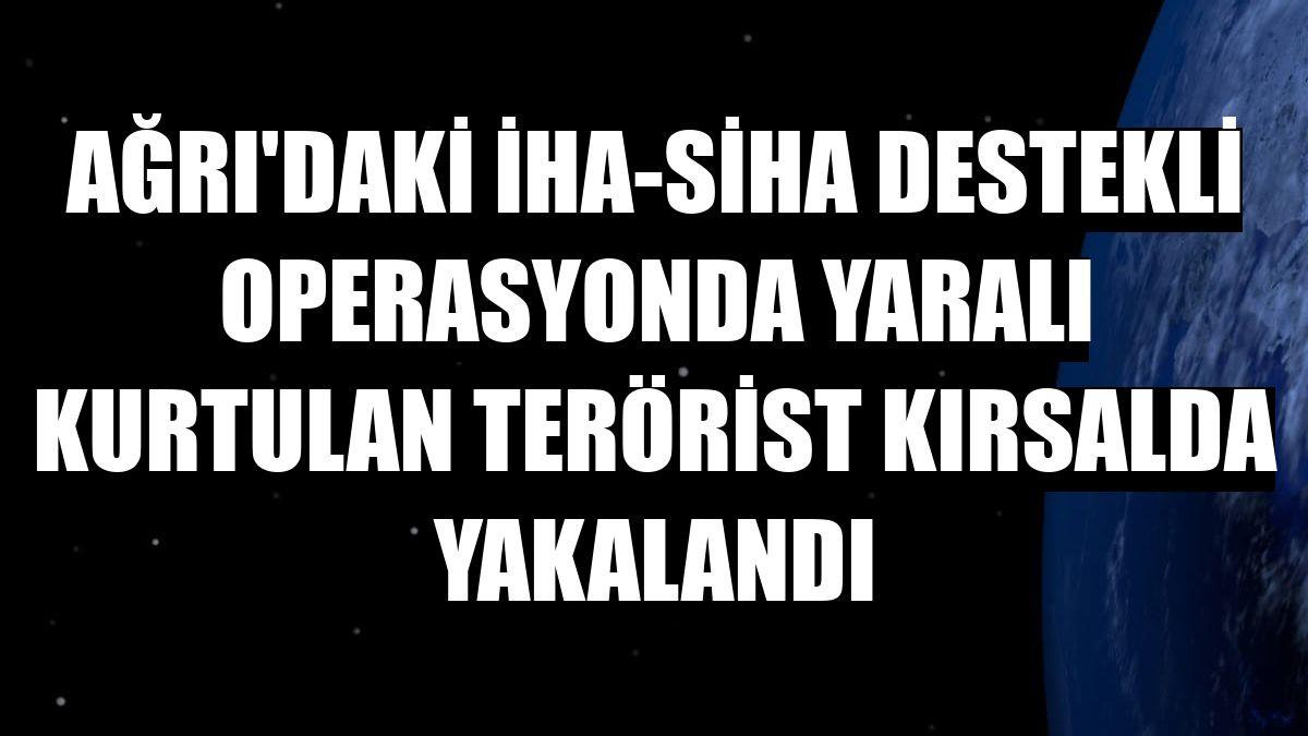 Ağrı'daki İHA-SİHA destekli operasyonda yaralı kurtulan terörist kırsalda yakalandı