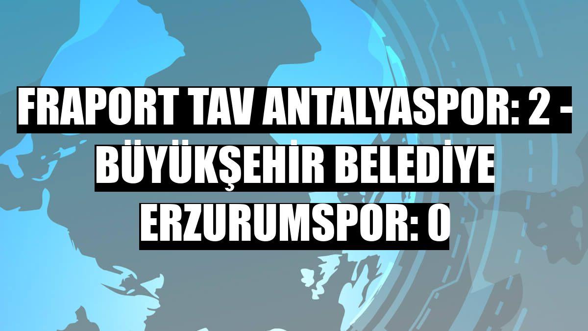 Fraport TAV Antalyaspor: 2 - Büyükşehir Belediye Erzurumspor: 0