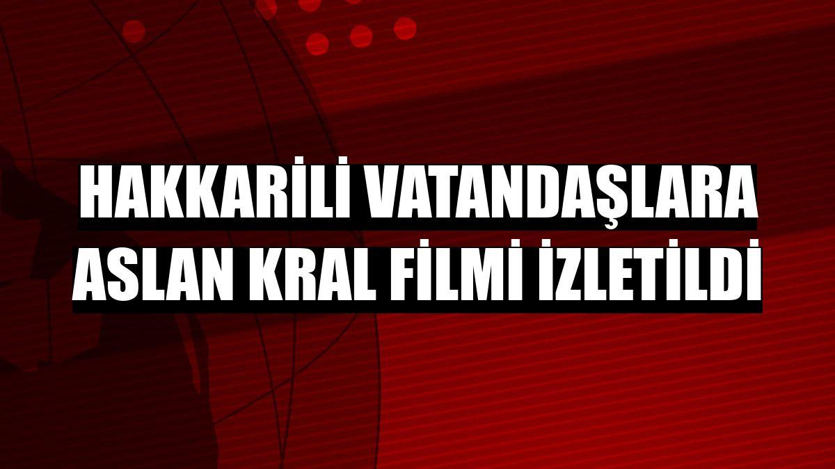 Hakkarili vatandaşlara Aslan Kral filmi izletildi
