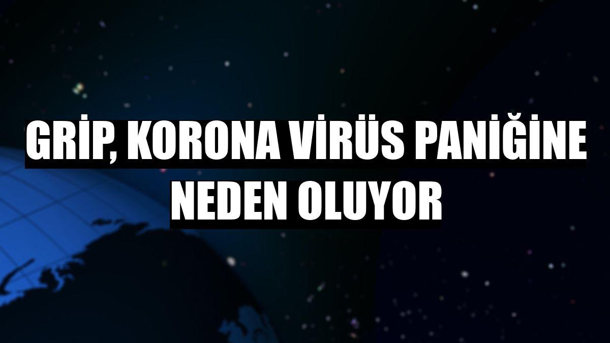 Grip, korona virüs paniğine neden oluyor