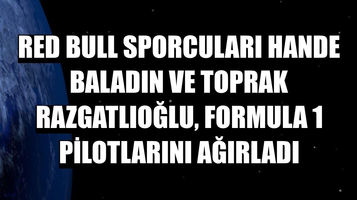 Red Bull sporcuları Hande Baladın ve Toprak Razgatlıoğlu, Formula 1 pilotlarını ağırladı