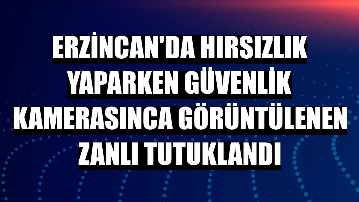 Erzincan'da hırsızlık yaparken güvenlik kamerasınca görüntülenen zanlı tutuklandı